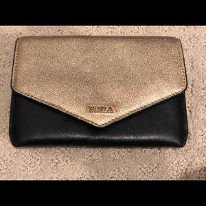 Gold/black Compact Furla wallet